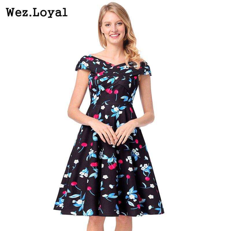 Online Shop Enyuever Embroidery Vintage Dress Plus Size Retro 50s