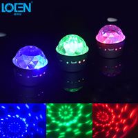 Mini Portable Atmosphere DJ Light Car Interior Stage Effect Lighting LED Disco Party Lamp Voice Control