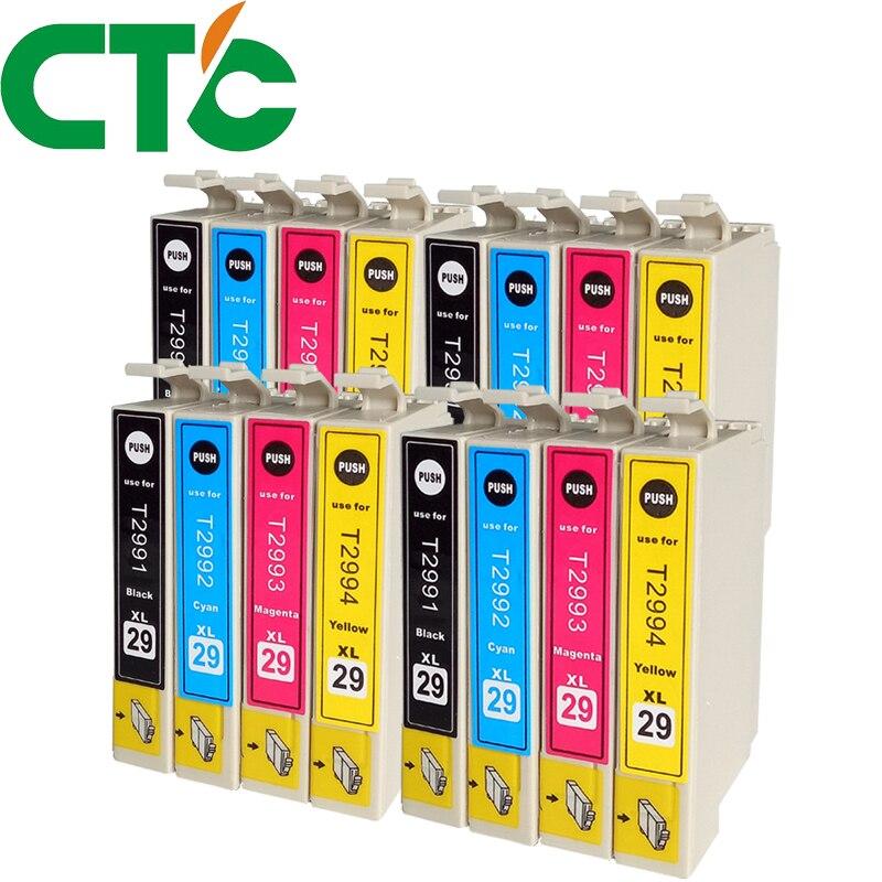 16 Pack T2991 T2992 T2993 Ink Cartridges Compatible for Epson XP-235 XP-332 XP-335 X-P432 XP-435 XP-247 XP-442 XP-342 XP-345