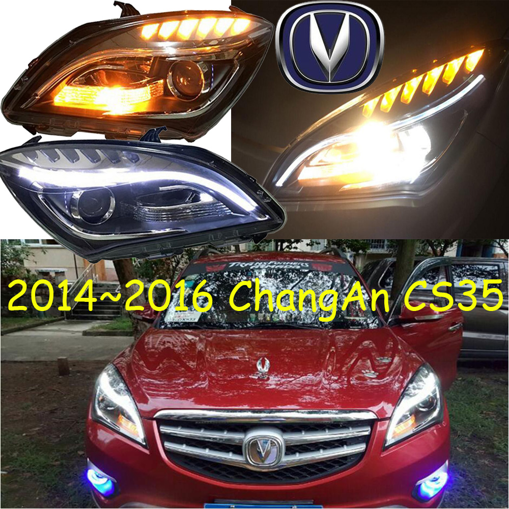 ChangAn CS35 headlight,2014~2016,Fit for LHD,Free ship!CS35 fog light,2ps/set+2pcs Ballast;CS 35,CS75 mitsubish grandis headlight 2008 fit for lhd