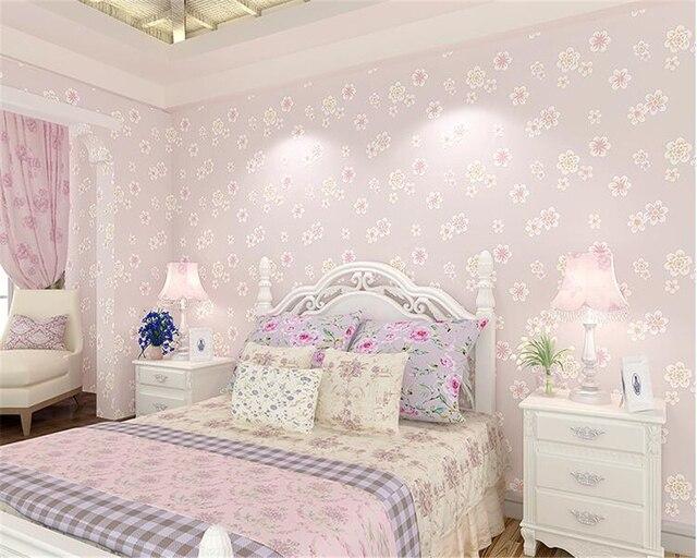 Beibehang mode meisje roze pastorale bloemen d niet geweven d
