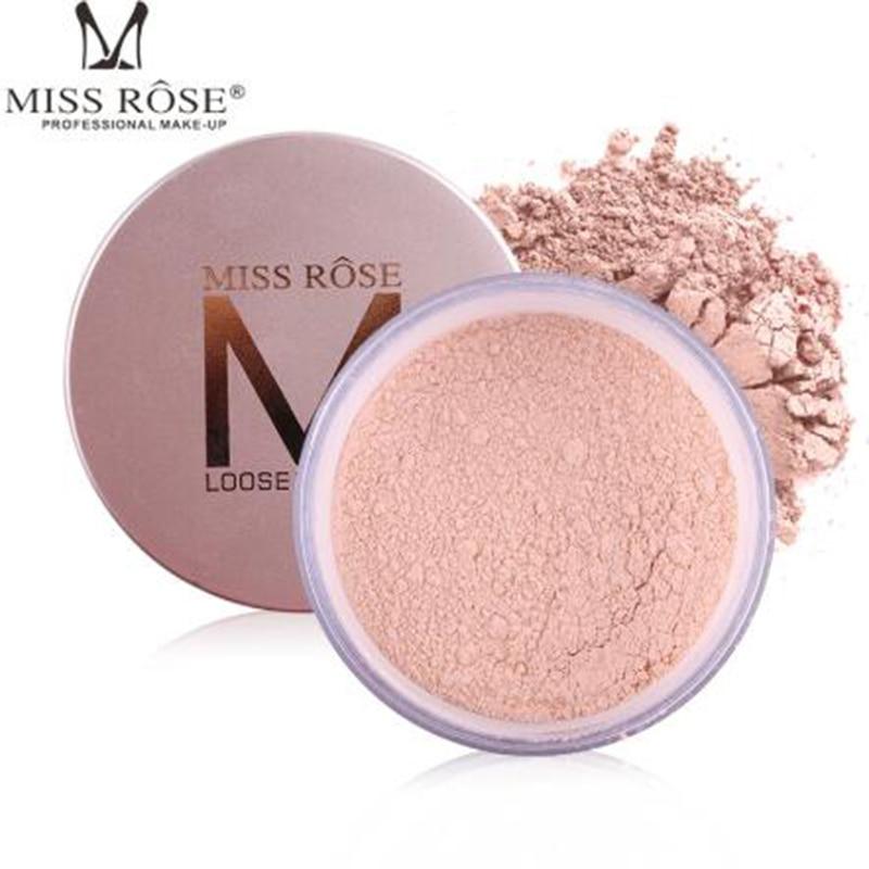 MISS ROSE 12-color set makeup powder loose control oil sunscreen brighten skin tone