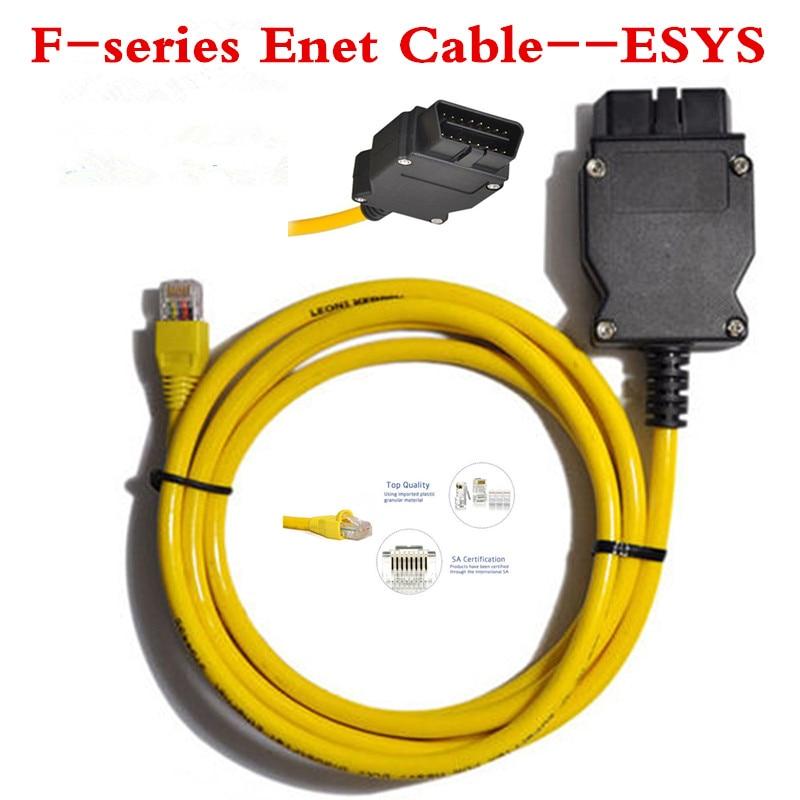 Prix pour De haute qualité ESYS 3.23.4V50.3 Données Câble Pour bmw ENET Ethernet à OBDII 2 Interface Données E-SYS ICOM Codage pour F-série Livraison le bateau