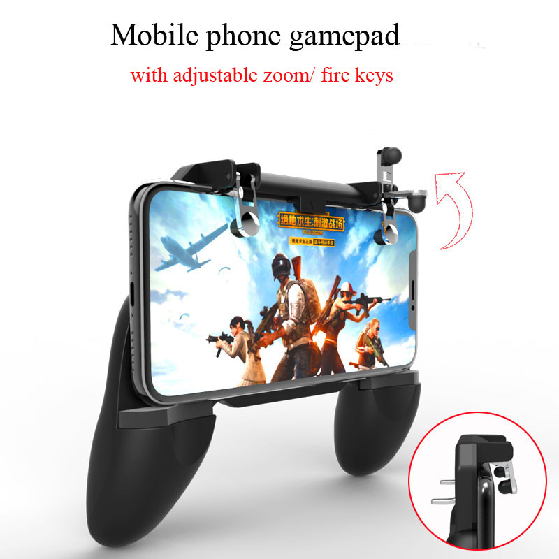 3in1 Wireless Controller Stand Gamepad for Android IOS Phone PUBG Mobile Gamepad Joystick Metal L1 R1 Trigger Gaming Gamepad