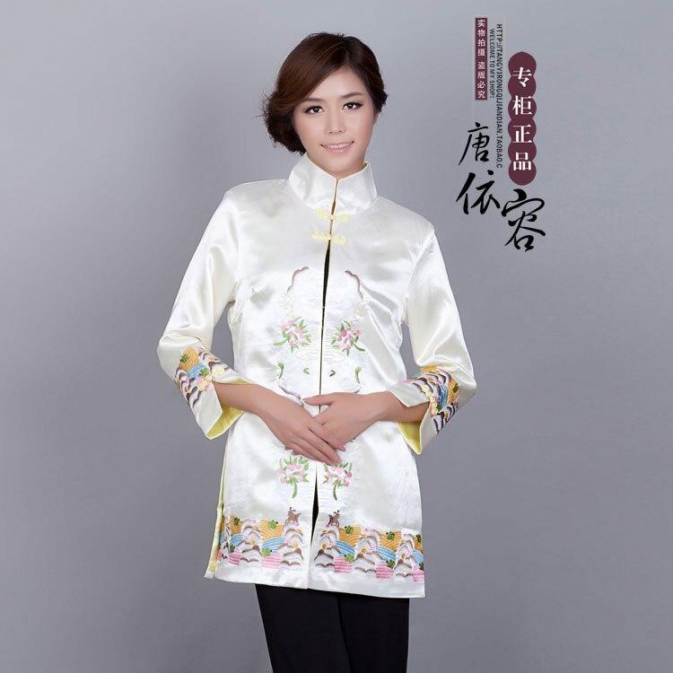 Nieuwe Vrouwen Tang Pak Top Midden-lange Geul Klassieke Chinese Stijl Nationale Kostuums Tang Pak Hanfu Show Om Digest Greasy Food Te Helpen
