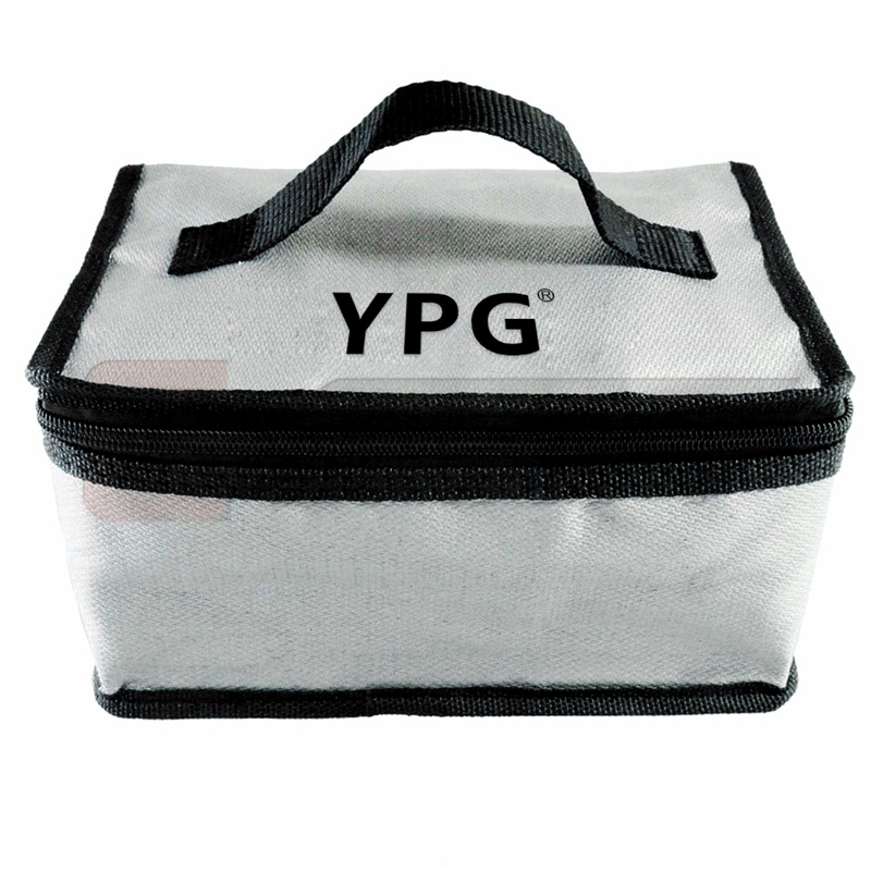 YPG Fireproof Explosionproof Lipo Battery Safe Bag for Battery Charging/Storage,Large Space Highly Sturdy Zipper(215x150x110mm)