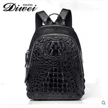 diwei 2018 new hot free shipping crocodile leather male bag leisure men women backpack personality quality