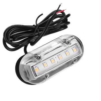 12V Marine Yacht Boat LED Underwater Light Transom Lighting White/Blue/Green Waterproof Marine Boat Accessories cnim hot 3 2w blue stainless steel ip68 waterproof led marine underwater light boat yacht light
