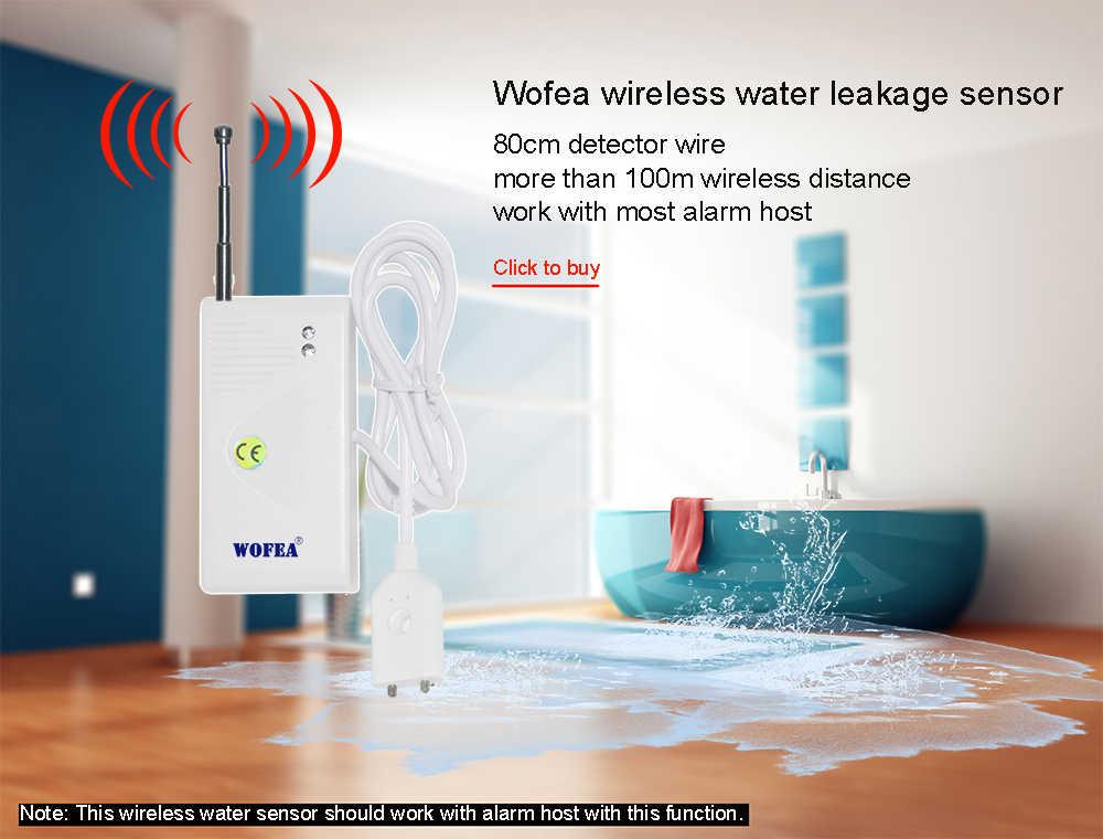 WOFEA 고성능 433MHZ 무선 누수 감지기 누수 감지기 경보 시스템 무료 배송 2 개/몫