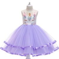 Girls Dress for 2019 Summer Season Holiday Dress Children's Clothing Kids Dress Pink Blue Queen Dancing Dresses