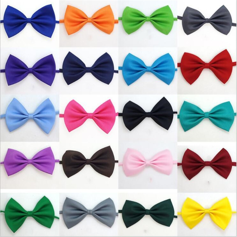 Classic Kid Bowtie Boys Grils Baby Children Bow Tie Fashion 20 Solid Color Mint Green Red Black White Green Pets Cravate