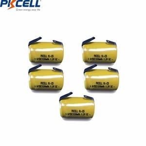 Image 2 - 10 قطعة PKCELL 4/5 SC Sub C 1.2 فولت بطارية نيكل كادميوم 1200MAH SC بطاريات قابلة للشحن مع علامات التبويب لحام كهربائي الحفر مفك