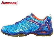 Бренд KAWASAKI, дышащая обувь для бадминтона, против кручения, для дома, спортивная обувь для женщин, мужчин, кроссовки, синий K-137