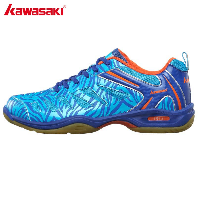 2017 Original Brand KAWASAKI Breathable Badminton Shoes Anti-torsion Indoor Sports Shoe For Women Men Sneakers Blue K-137