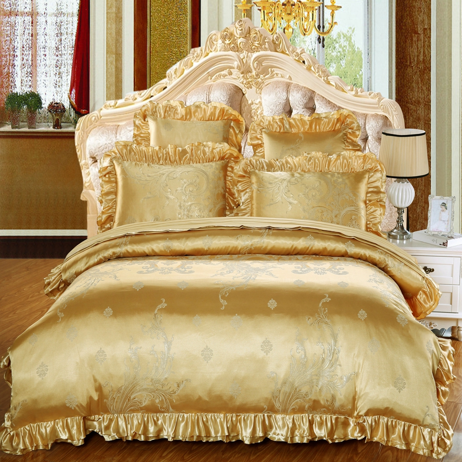 Online Get Cheap Gold Bed Sheets Aliexpress Com Alibaba