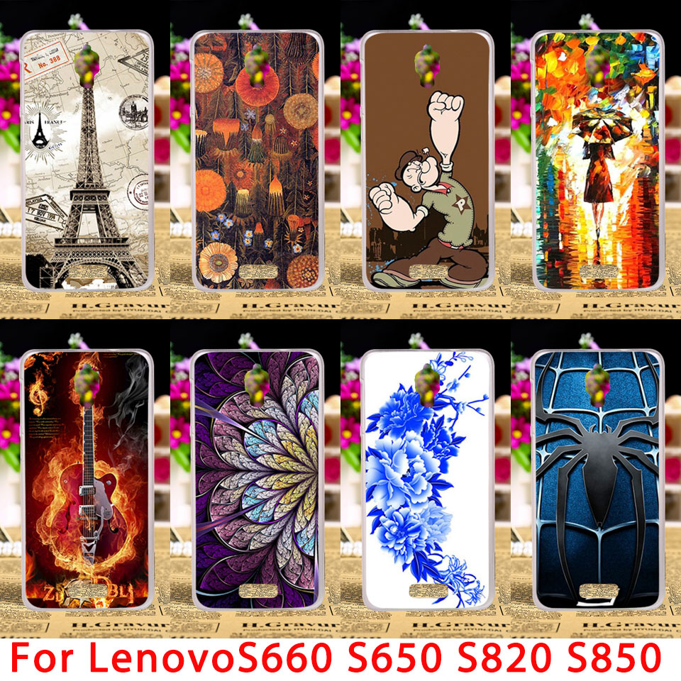 Soft TPU Phone Cases For Lenovo S660 S820 S850 S650 S658T S850TS 820 S668T S 660 Hard Back Cover Shell Housing Hood Sheath Bag