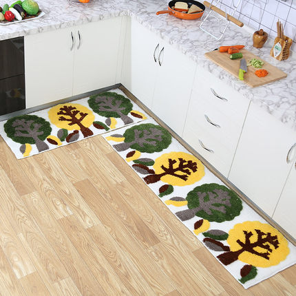 Tapis de cuisine, tapis de porte, tapis minimalistes modernes, longues bandes, tapis antidérapants, chambre à coucher, couvertures de chevet