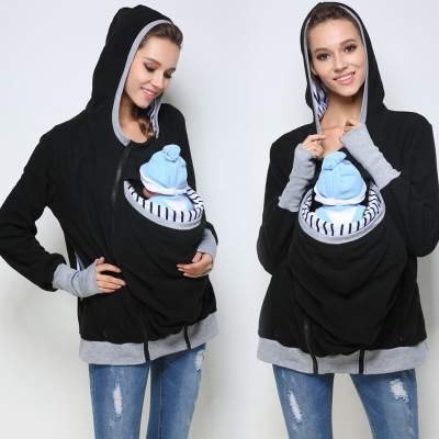 Maternity baby back carrying hoodie sweatshirt babywearing jacket stripe cap Maternity Warm Polar Fleece, Hoodie/Pullover 463 ballscrew sg 1204 rail 650mm travel linear guide 57 nema 23 stepper motor cnc stage linear motion moulde linear