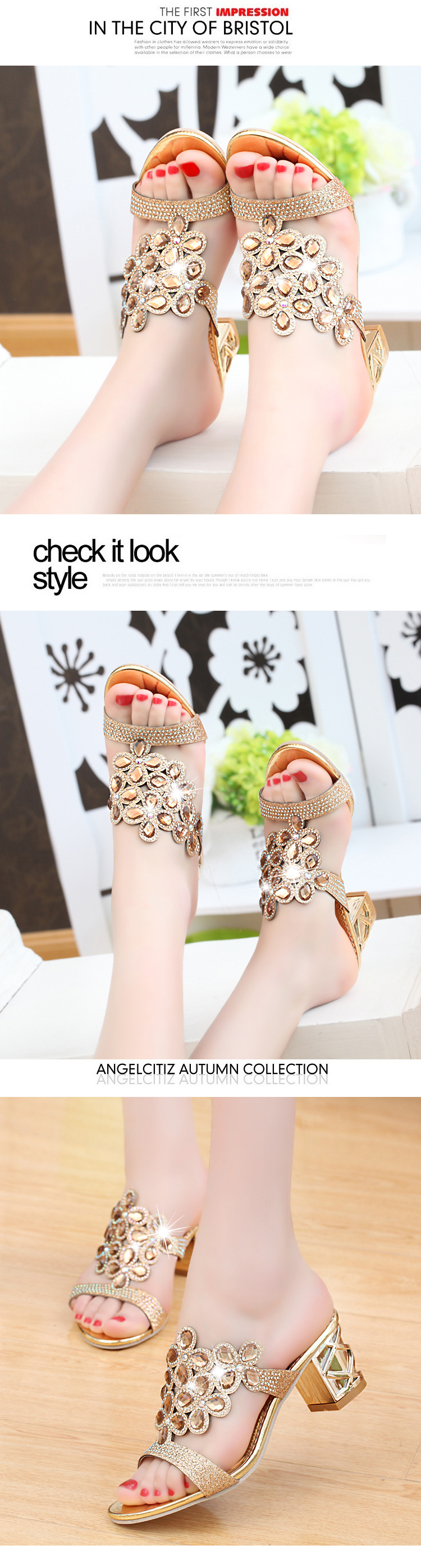 HTB1Q.yWiHuWBuNjSszgq6z8jVXag Designer Sandals Women 2018 Ladies Slides Women Slippers Sandals Summer Crystal Shoes Peep Toe Middle Heels Zapatos Mujer
