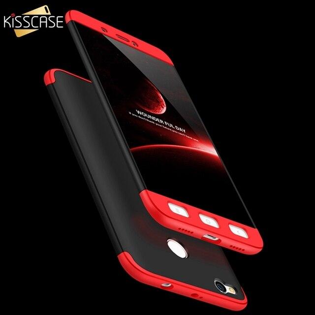 new style d36e0 932ec KISSCASE For Xiaomi Redmi 4X Case for Xiaomi 5 5S 6 redmi Note 4 Pro Phone  Case 3 in 1 360 Full Protective PC Phone Case Coque