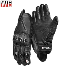 Motocross Racing Genuine Leather Gloves moto Motorbike Touchscreen Waterproof Gloves Motorcycle Downhill Cycling Riding Gloves new 2017 revit hydra h2o waterproof motorcycle motorbike gloves motogp road racing team touchscreen gloves