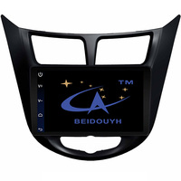 BEIDOUYH 9 Android 4 4 Car DVD Player For HYUNDAI VERNA 2010 2016 Radio Stereo Video