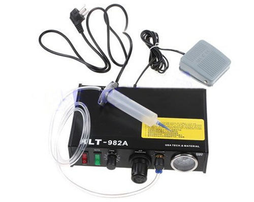 KLT-982A Solder Paste Glue Dropper Liquid Auto Dispenser Controller 220V wireless 433mhz signal repeater rt 101 for 433mhz chuango alarm system and s4 alarm system