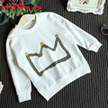 chifave 2016 New Spring Autumn Children Boys Clothes 3 Colors Baby Boys Sweatshirt Cotton Pullover Crown Print Kids Boys T-shirt