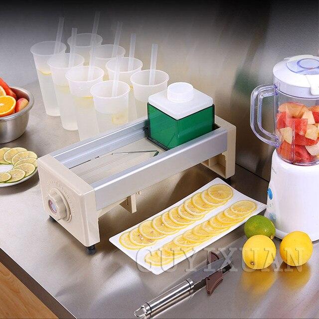 Lemon slicer commercial Stainless Steel Manual Fruit Vegetable Potato Home Use Orange Slicing Machine For Tea Shop Food Drying