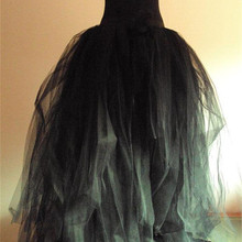 Женская пышная Свадебная юбка многослойная длинная юбка-пачка для взрослых, Тюлевая юбка трапециевидной формы, большие размеры, черная длинная юбка, доступны цвета