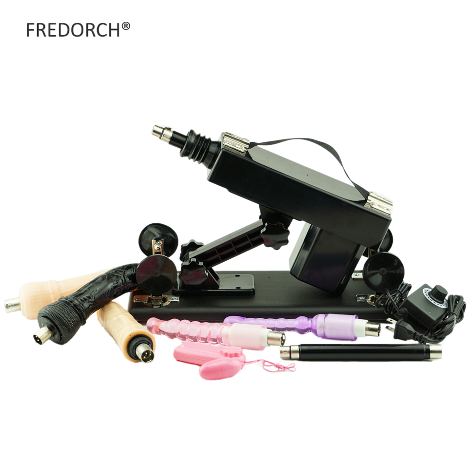 Fredorch New Automatic Sex Machine Female Masturbation Pumping Gun With 5 Dildos -6683