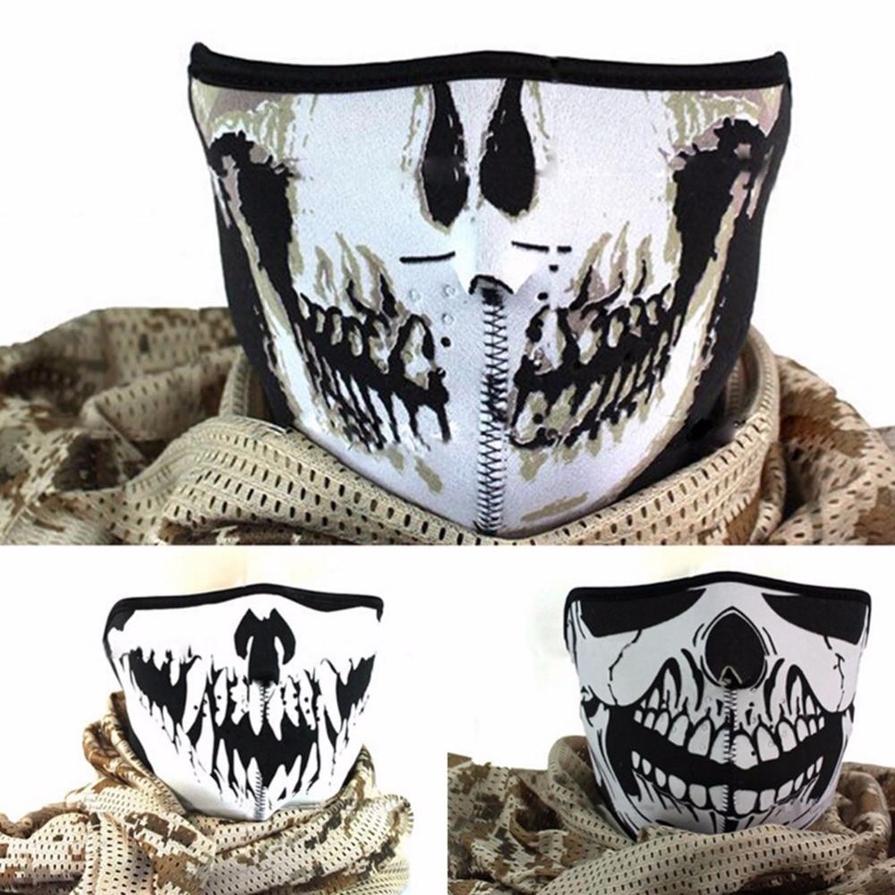 Hot Sale New Arrival 3 Styles Skull Neoprene Half Face Mouth Mask ...