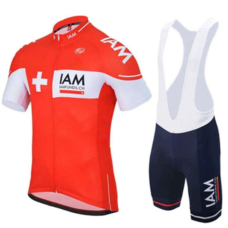 Цена за 2017 Красный IAM велоспорт одежда летняя hombre ropa ciclismo велосипед одежда мужская майо велоспорт джерси устанавливает ciclismo mtb джерси
