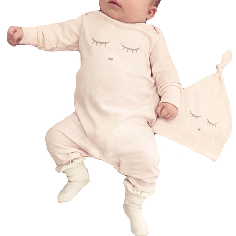 Baby Girl Romper Clothes Eyelash Baby Boy Rompers Newborn Baby Rompers with Caps Long-sleeve Infant One Pieces Bodysuit Outfits newborn infant girl boy long sleeve romper floral deer pants baby coming home outfits set clothes