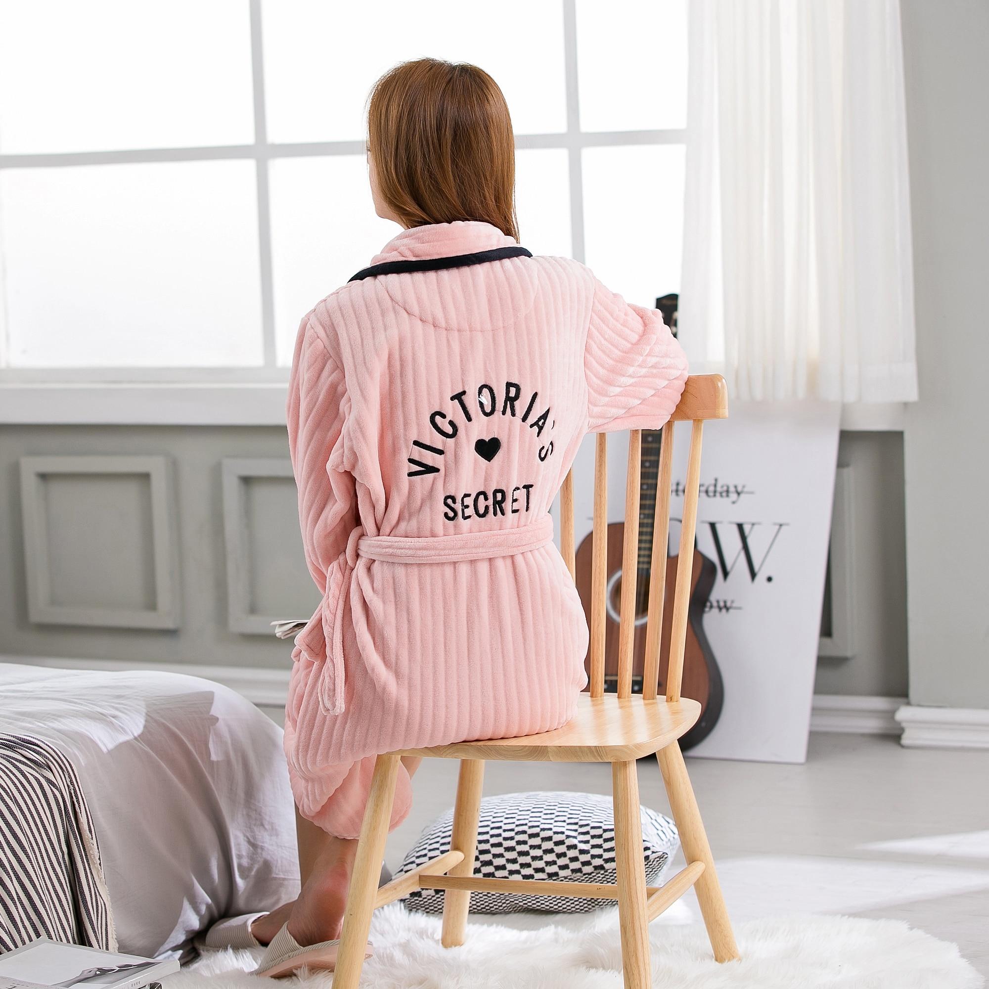 Elegant Luxury Thicken Nightgowns Winter Bathrobe Women Pajamas Bath  Flannel Warm Robe Sleepwear Womens Robes Coral Velvet-in Robes from  Underwear ... d1ca7bb13