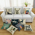 Linen Pillow Sofa Waist Cushion Automobile Pillow Home Bedroom Living Room Pillow 45 X 45cm Hot Sale Free Shipping