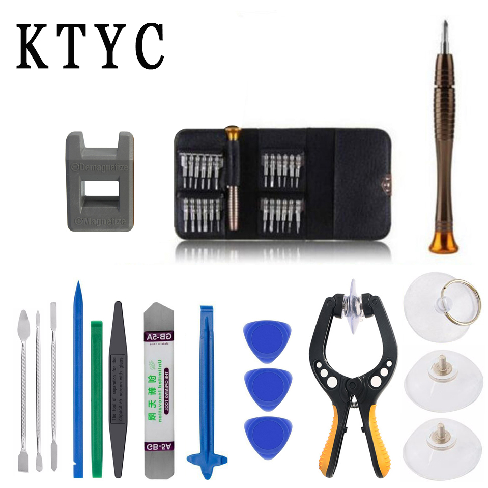 38 in 1 Mobile Phone Screen Opening Plier Repair Tools Kit Screwdriver Pry Disassemble Tool Set for iPhone iPad Samsung computer