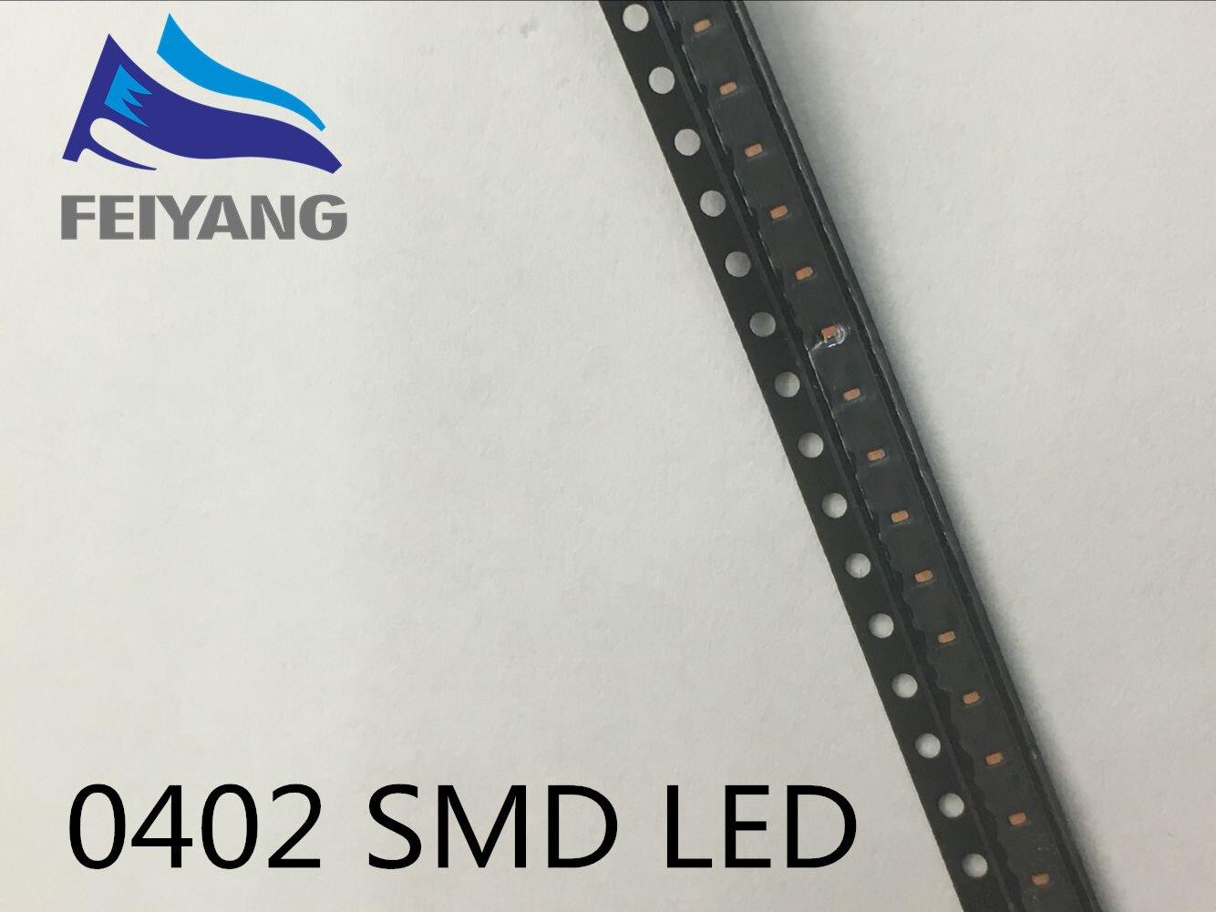 1000 шт. <font><b>0402</b></font> 1005 1.0&#215;0.5 мм красный свет <font><b>SMD</b></font> светодиод светодиодные лампы шарик 620-625NM 1.0*0.5*0.35 мм