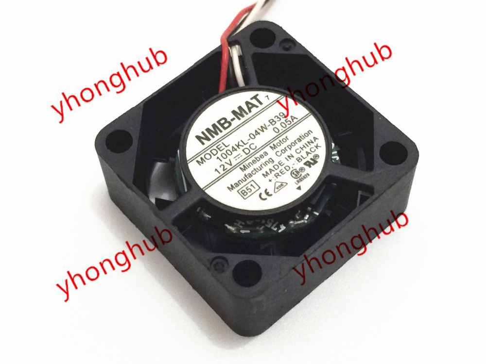 NMB-MAT 1004KL-04W-B39 DC 12V 0.05A 25x25x10mm 3-wire Server Square Fan nmb mat 3110kl 04w b49 b02 b01 dc 12v 0 26a 3 wire server square fan