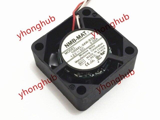 NMB MAT 1004KL 04W B39 DC 12V 0.05A 25x25x10mm 3 wire Server Square ...
