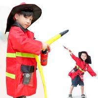 Halloween Costumes For Kids 1Set Child Halloween Christmas Cosplay Sam Firefighter Fireman Costumes Boys Girls Uniforms