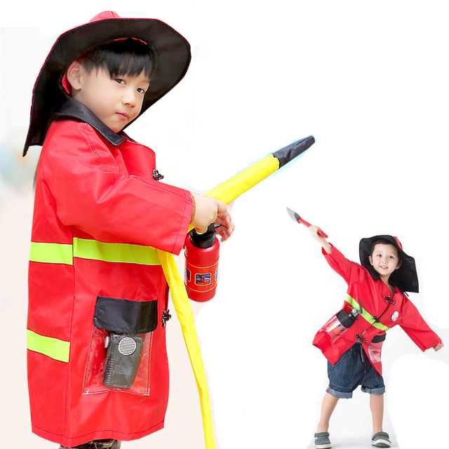 halloween costumes for kids 1set child halloween christmas cosplay sam firefighter fireman costumes boys girls uniforms - Fireman Halloween