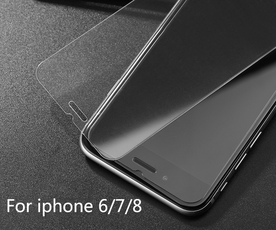Tempered Glass for iPhone 6 6S Screen Protector for iPhone 7 Plus Glass Film for iPhone 8 plus X XR XS SE 5S Tough Protection 8