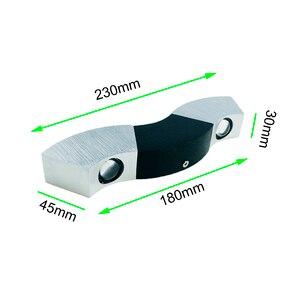 Image 5 - Led Wall Lamp Light 3W 9W Aluminum Sconces Wave Shape Ceiling For Hall Bedroom Corridor Restroom Bathroom 110V 220V JQ