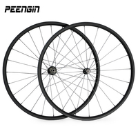 lightest 700C road bike wheels carbon 20mm depth 23mm width tubular wheel set bike wheelset novatec A271 F372/powerway r36 hubs