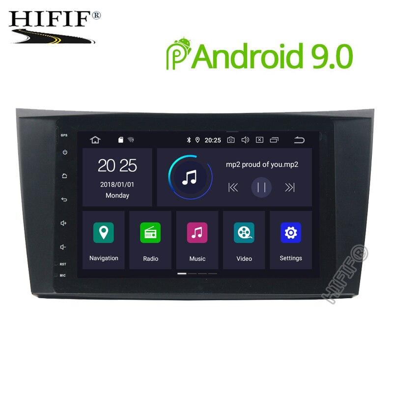 2 Din Auto Radio Android 9.0 2 + 16G pour Mercedes/Benz/classe E/W211/E300/CLK/W209/CLS/W219 lecteur vidéo DVD voiture GPS DVR