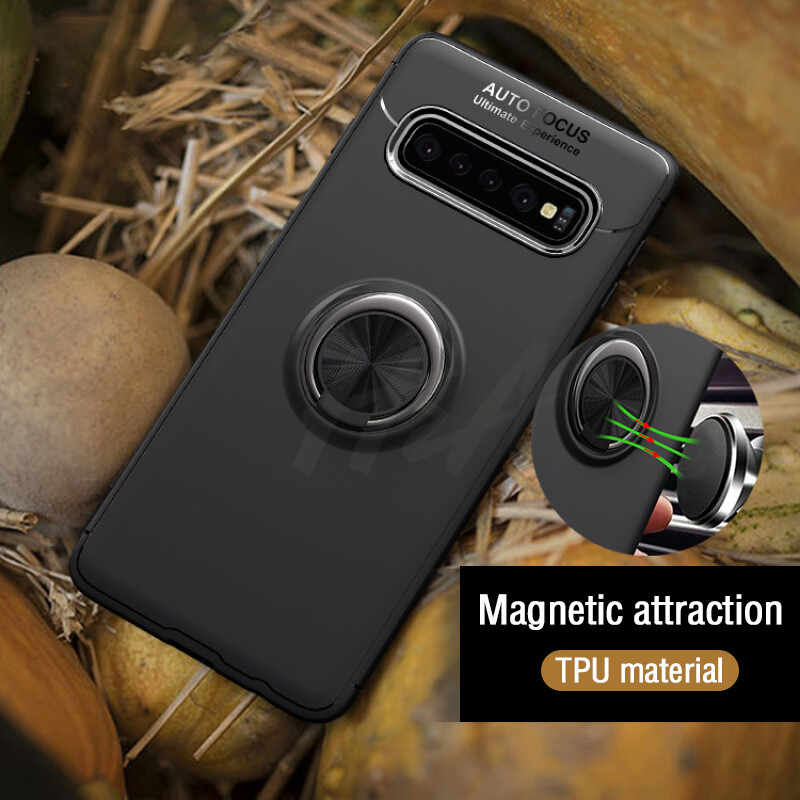 H&A Luxury Shockproof Bracket Ring Phone Case For Samsung Galaxy S10 Lite S10 Plus TPU Phone Cover For Samsung S10 Case Cape