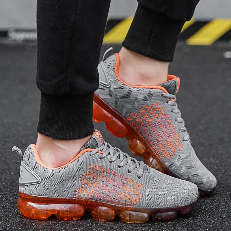 139cbc2d93f0b7 Jogging Orange Course Zapatillas grey Respirant Air Sneakers Sport Semelles  De Deportiva Hommes Chaussures Tendance blanc ...