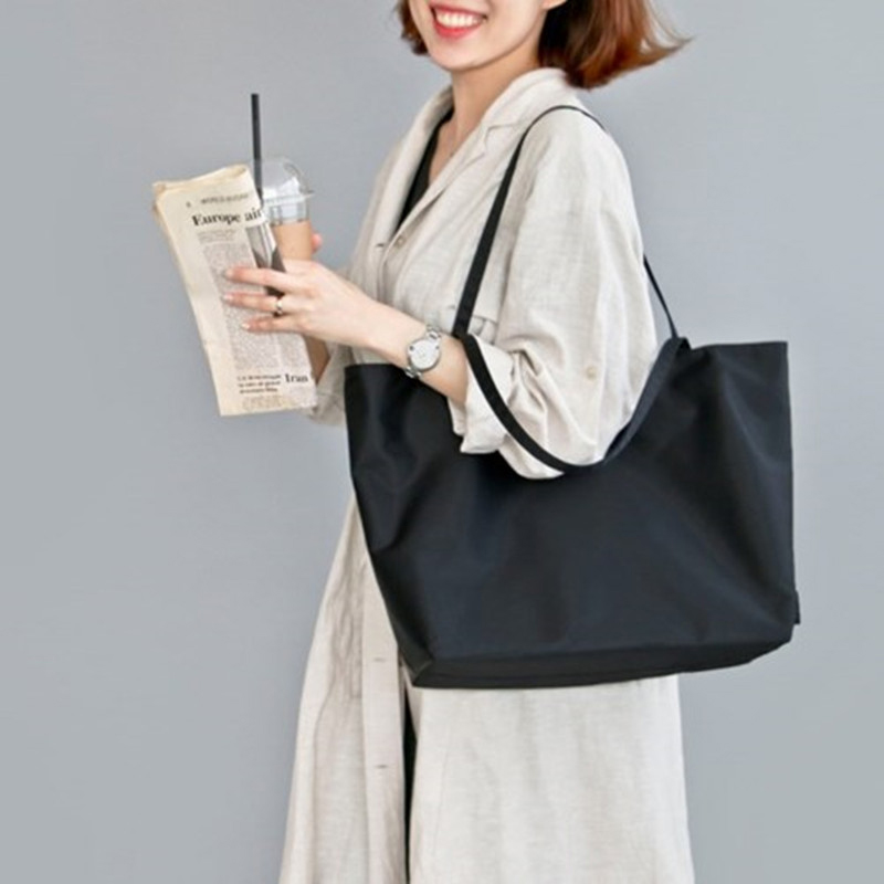 2019 Dames Tissu sac fourre-tout en nylon À La Main Shopping Voyage Femmes Épaule Pliant Shopping sacs de magasinage bolsas de tela