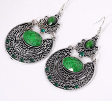 New arrival Bohemia Droplets Earrings Vintage Palace Hollow Carved Earrings for Women Ethnic Retro Accessories Pendant Earrings